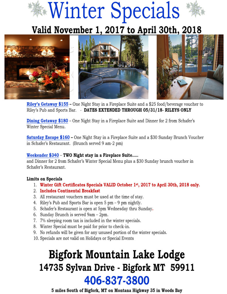 Mountain Lake Lodge Winter Specials 2017.docx